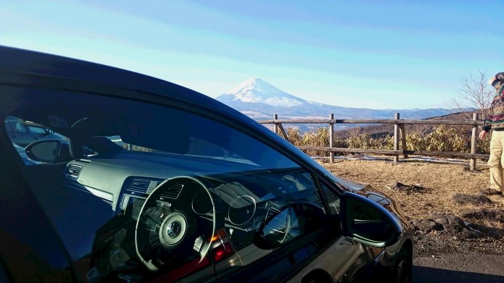 箱根とゴルフRと富士山